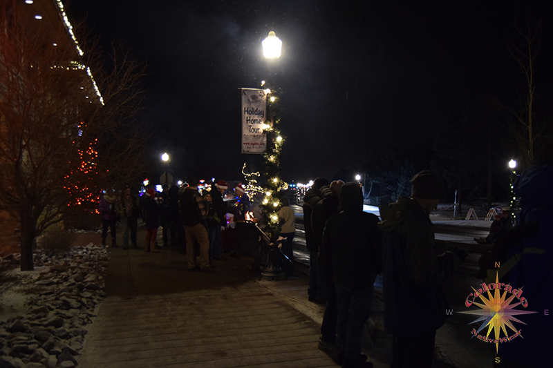 Christmas Parade Woodland Park Lights, floats, community gathering