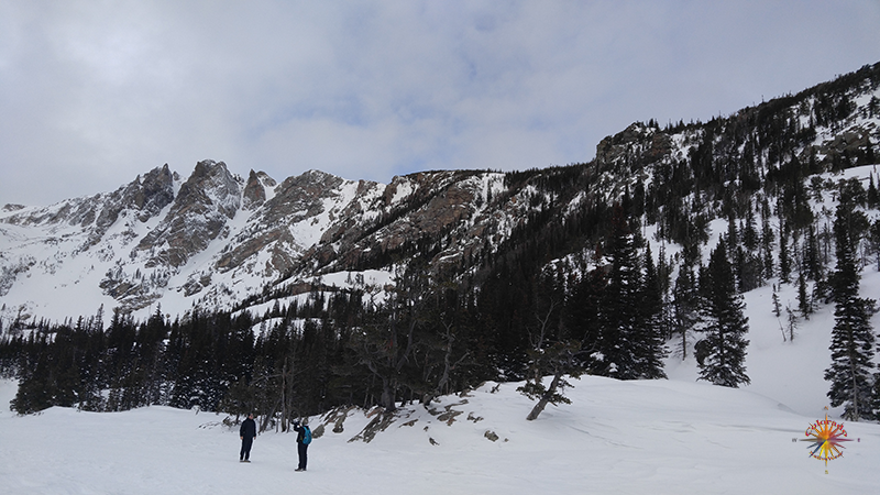 Emerald Lake Snowshoeing RMNP Photo Essay Two Hike to Emerald Lake is an easy 3.5 mile round trip adventure with an elevation gain of 650 feet.