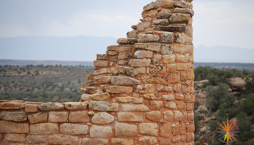 Hovenweep Monument Essay Two is part of the Canyon o f the Ancient, Anasazi pueblo ruins. In the northwest corner sit a a Kiva.