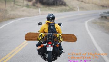 Snowboard-Bozeman-Montana-Spring-Motor Cycle-Trail of Highways-RoadTrek TV-Organic Content-Marketing-Social SEO-Travel-Media-