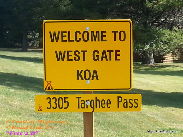 Sign on Way in
