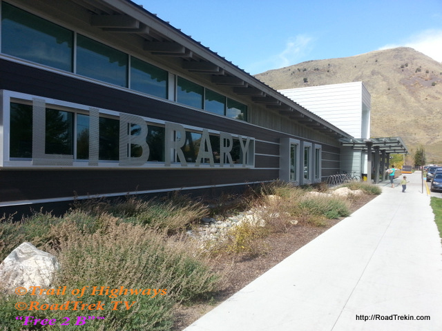 Teton County Library, Front of Building.