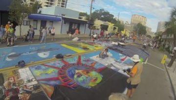 Chalk Art-Streets of Venice-Florida-Trail of Highways-RoadTrek TV-Organic Content-Marketing-Social SEO-Travel-Media-