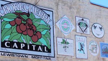 Sign on Build-Lewistown-Montana-Choke Cherry Festival--Trail of Highways-RoadTrek TV-Organic Content-Marketing-Social SEO-Travel-Media-