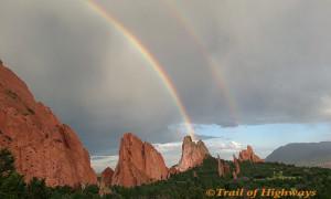 Rainbow in Garden of the Gods Colorado
