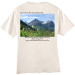 Going to the Sun Road Bear Grass Blooming Back of Shirt