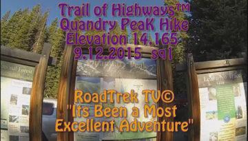Quandry Peak, Colorado-14,165 feet in Elevation-Hike-Day Hike -Trail of Highways-RoadTrek TV-Organic Content-Marketing-Social SEO-Travel-Media-