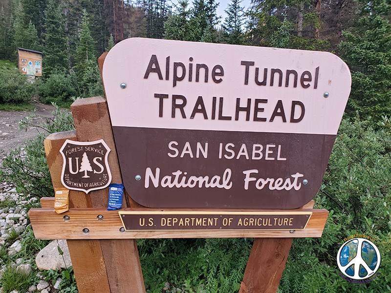 Alpine TrailHead is part of the Colorado and Continental Divide Trail with Destinations of Tin Cup Pass, Monarch Pass, Tunnel Lake, the Palisades and Alpine Tunnel east and west entrances
