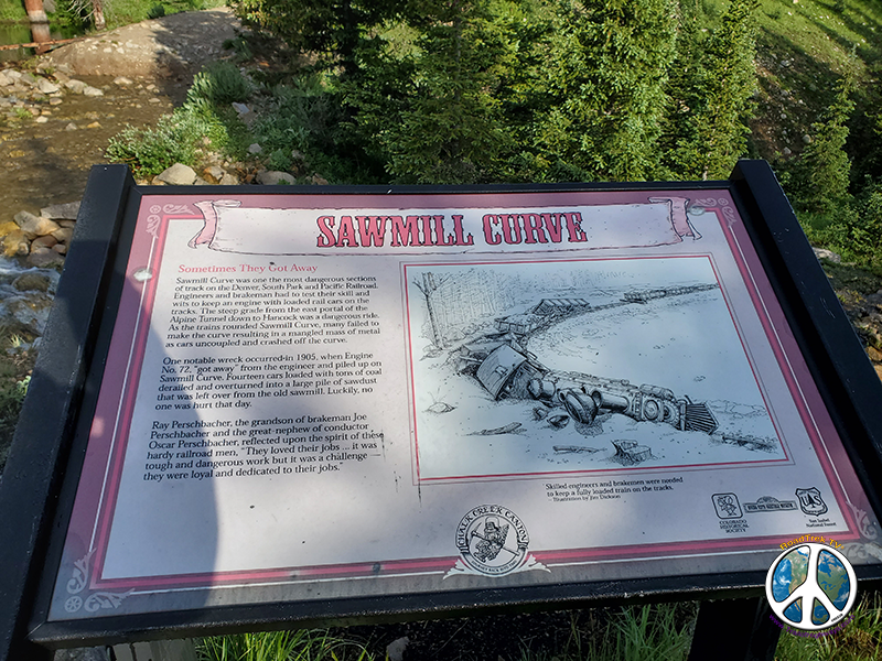 Sawmill curve on the Alpine Line at the ghost town of Hancock Colorado