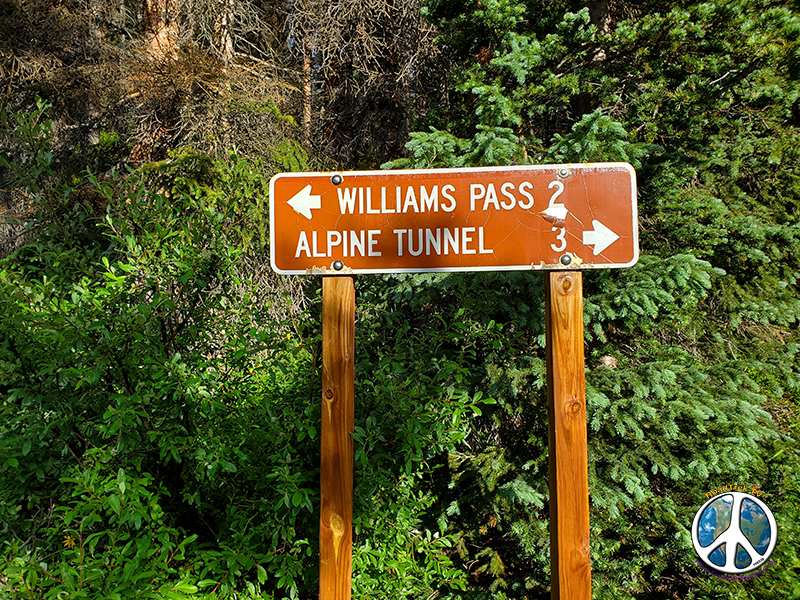 Junction of Williamson Pass and the Alpine Tunnel Trail, for Colorado Trail hikers Alpine trail is 3 miles shorter, Williamson Pass offers historic and incredible panoramic's