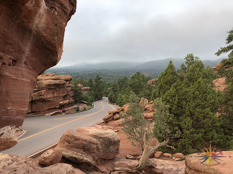 Look back from the park towards Manitou Springs from Garden of the Gods, Colorado