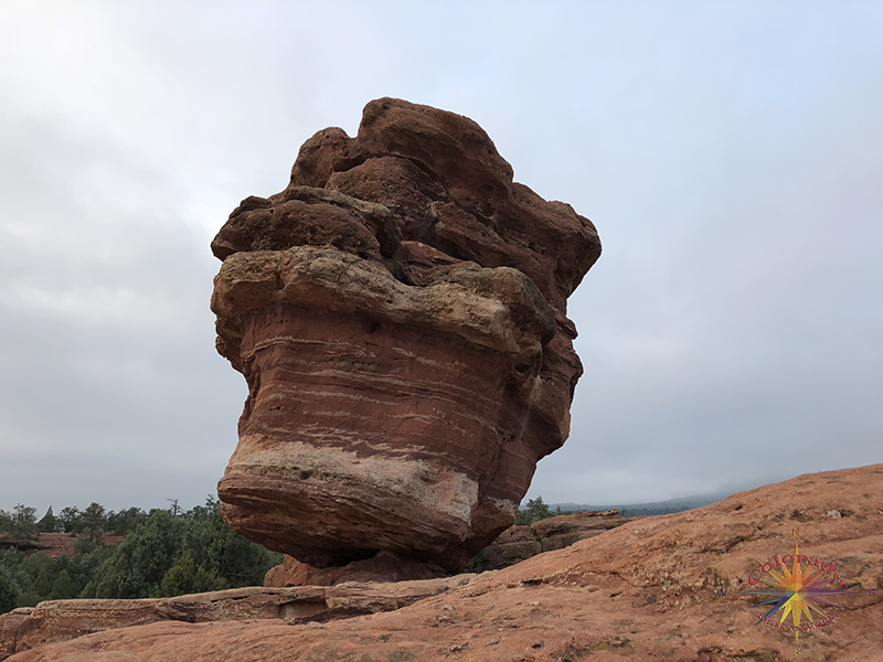 I have to say it is just fun to climb upon the red rocks around Balance Rock in Garden of the Gods, Colorado Springs, Colorado