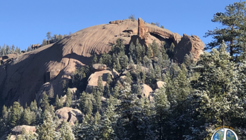 Harmonica Arch Video 1-2 Harmonica Arch Video 1-2 is moderately hard 5.4 mile in and out hike. As you climb closer to the arch a bit of granite scrambling begins till you end up on a granite dome leading to Harmonica Arch.
