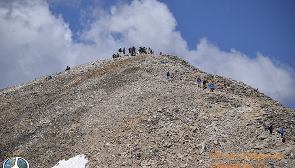 Mount Democrat Hike 1-3, Mount Democrat offers 2 other 14ers to hike to in the same day, Mt. Lincoln  -  14,286 feet, Mt. Bross  -  14,172 feet which you have to skirt the edge of the summit cause its on private property.