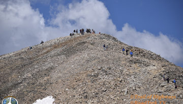 Mount Democrat Hike 1-3, Mount Democrat offers 2 other 14ers to hike to in the same day, Mt. Lincoln -14,286 feet, Mt. Bross -14,172 feet which you have to skirt the edge of the summit cause its on private property.