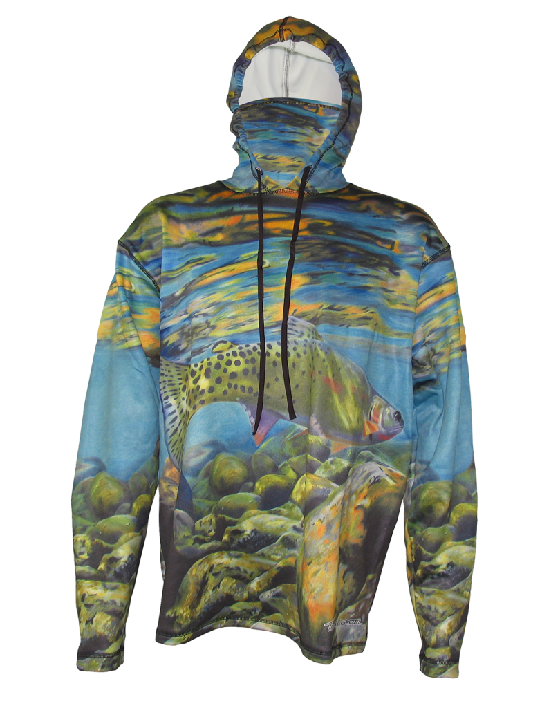 Freestone (Cutthroat Trout) Sunpro Hoodie perfect sun protection apparel while hiking,backpacking, biking, trail running or taking a drive