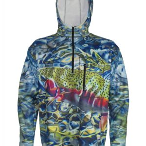 Tranquility 1/4-Zip FlexFleece Fish Adventure Hoodie is watch rainbow trout rise in a pool or back eddy can make one's day