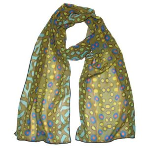 Brook Trout 100% Silk Fish Scarf