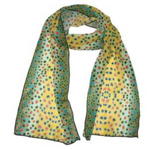 Brown Trout Silk Fishing Scarf