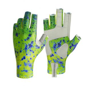 Dorado Patterned Fishing Gloves
