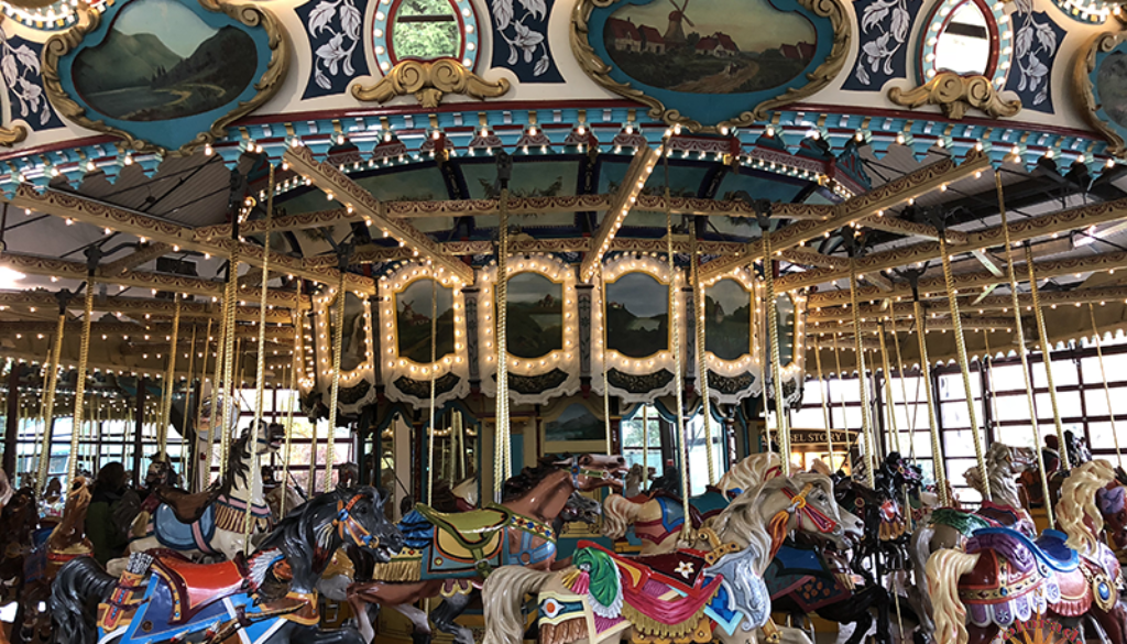 Woodland Park Zoo Seattle carousels are fun no matter the age of the individual