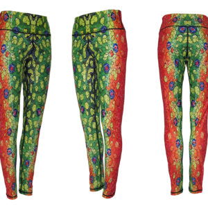 Brook Trout Leggings bring the mountain stream home, down a trail to a mountain top or lake. Running clothes with style and comfort on any hike or night out.