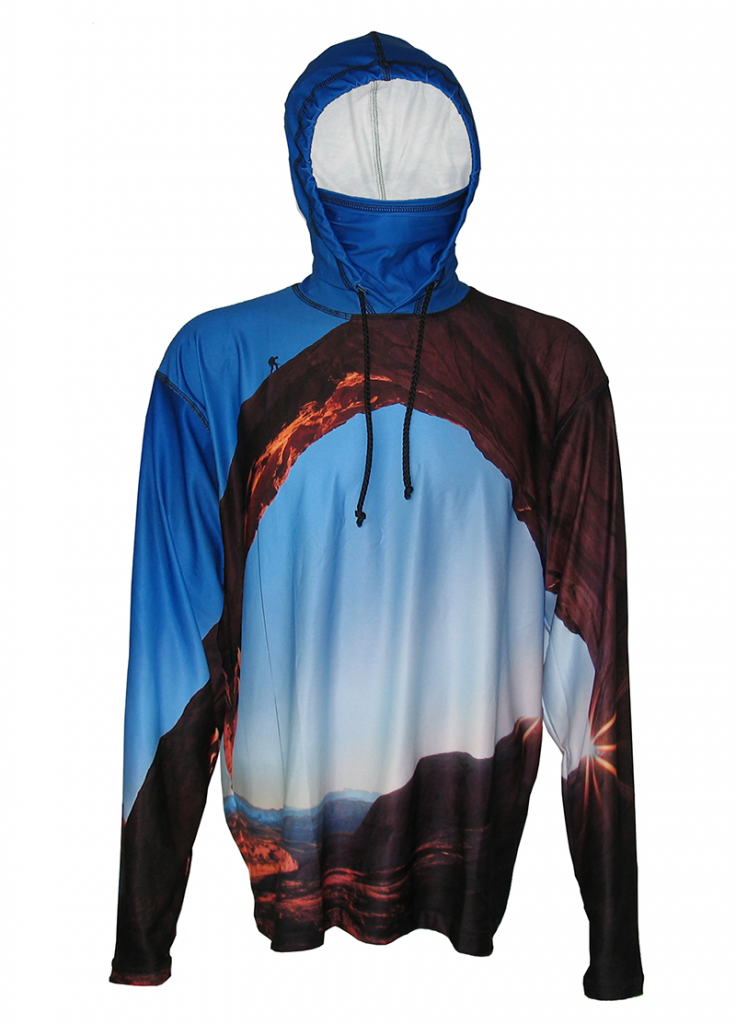 Arch Climber Sunpro Hoodie is perfect Expedition wear, on the trail, in camp or hiking up a mountain to a 14er's summit. Adventure wear with style.
