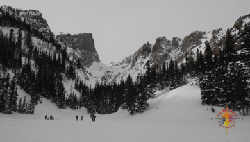 Emerald Lake Snowshoeing RMNP Photo Essay Four