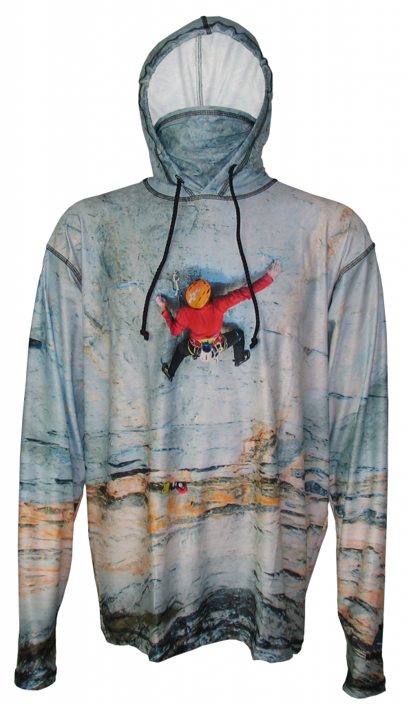Big Wall SunPro Hoodie, let the world know you are a climber with this Iconic climb up the wall. Super comfortable, great sun-protection, this hoodie