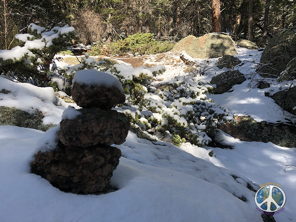 Cairns seem to be well placed as long as you are paying attention hiking Lost Creek Wilderness in Hiking Clothes Hike Harmonica Arch Similitude 1-8