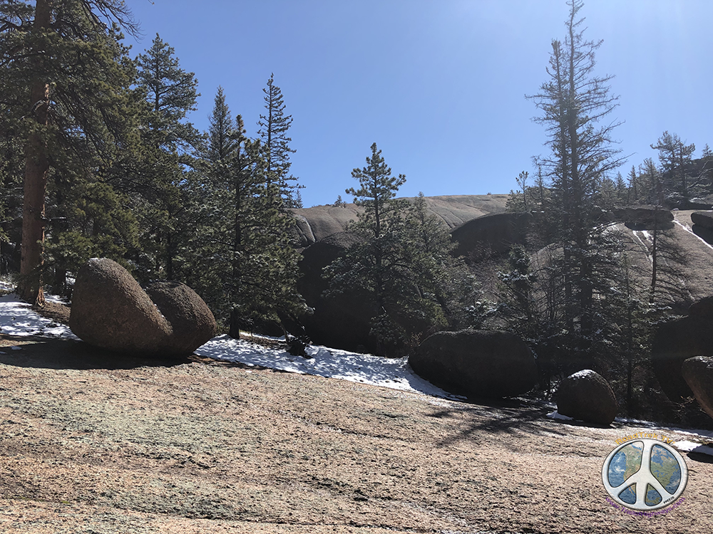 Terrain makes this a very cool hike in Lost Creek Wilderness Harmonica Arch Similitude 1-9