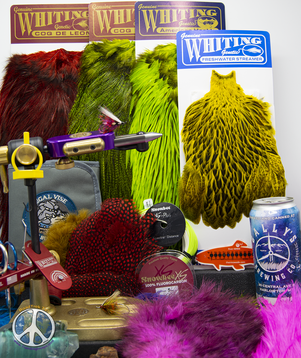 Marabou Kilt cause you just don't know what's underneath. Tag is silver embossed tinsel 3 wraps in Steelhead Dry Line