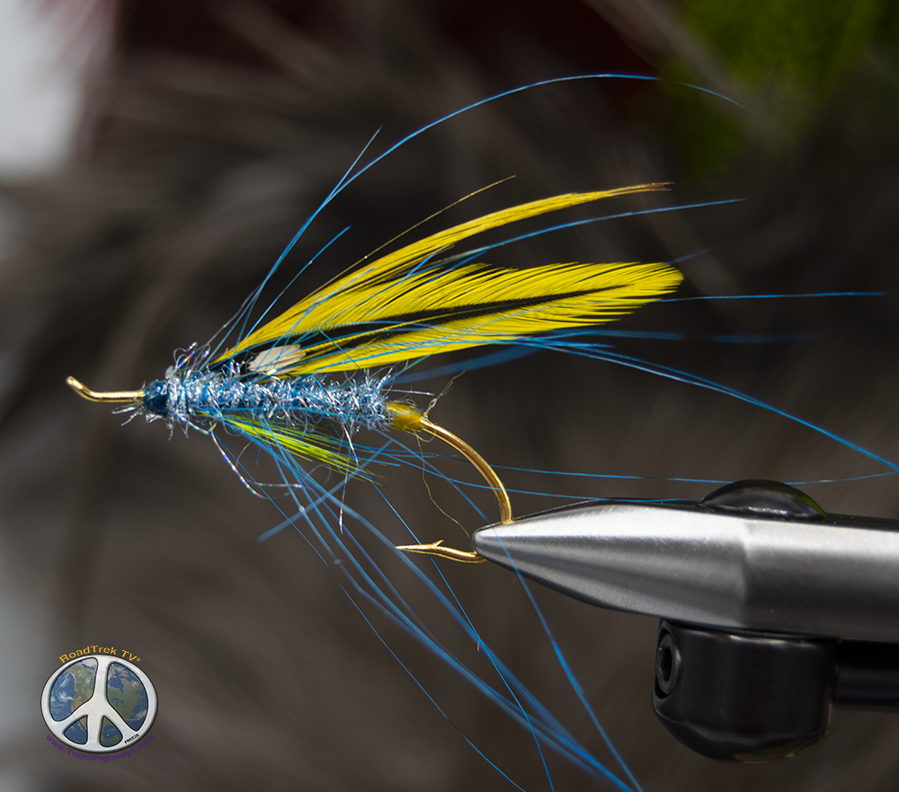 Blue Gold Spey fly fishing in fly fishing apparel