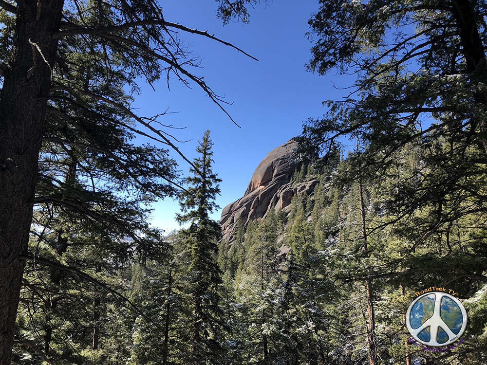 Looking back changes with every step in the climb in Lost Creek Wilderness on Hike Harmonica Arch Similitude 1-7
