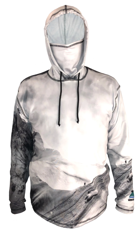 Jagged Edge Hoodie Ski Trail Apparel for that moment of ecstasy in knee deep powder as the sun glimmers on the show as you glide on through.