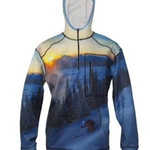 Above The Clouds 1/4-Zip Ski Clothes Hoodie