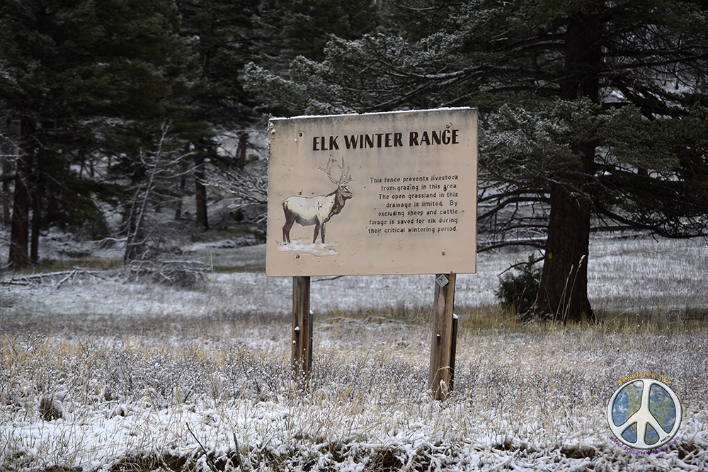 Elk Winter Range informational roadside attraction