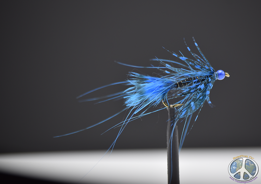 Guinea Blue Spey Hackle Wooly Bugger