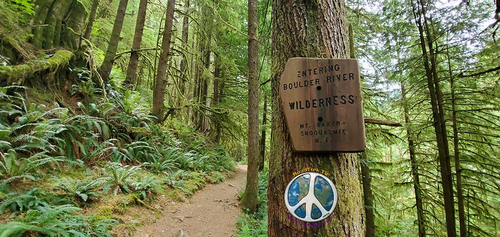 Entering the Boulder Creek Wilderness