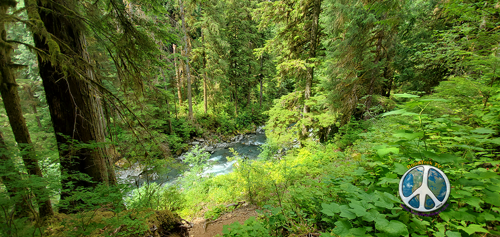 Glance back at Boulder River as we head down the trail or up, I am never quite sure