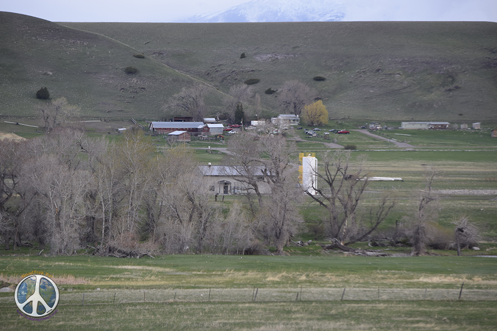 A ranch along the drive sitting peacefully in the valley
