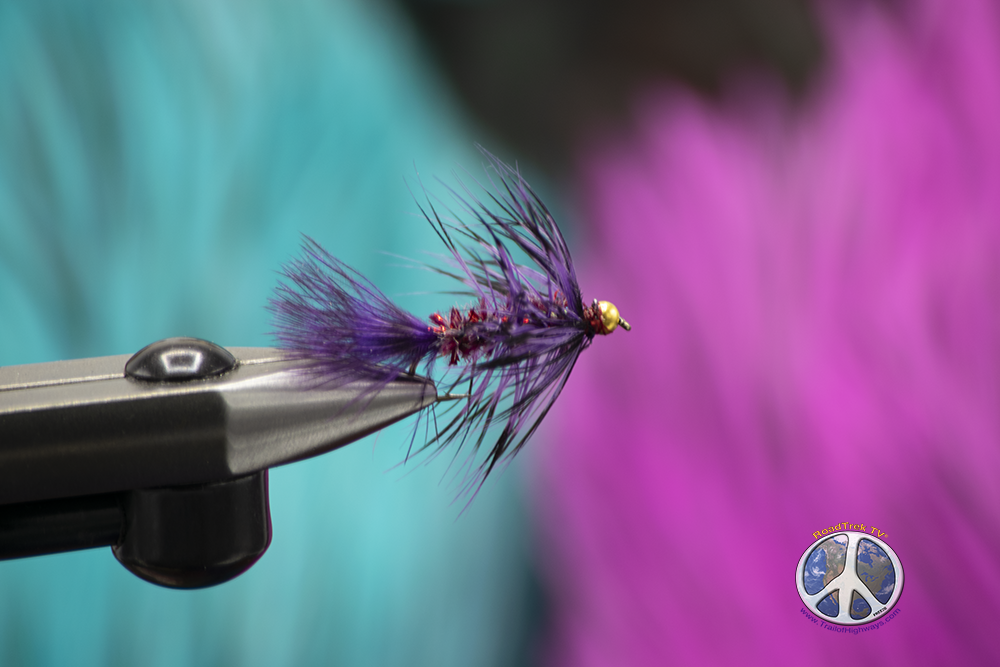 purple red flash wooly buggers