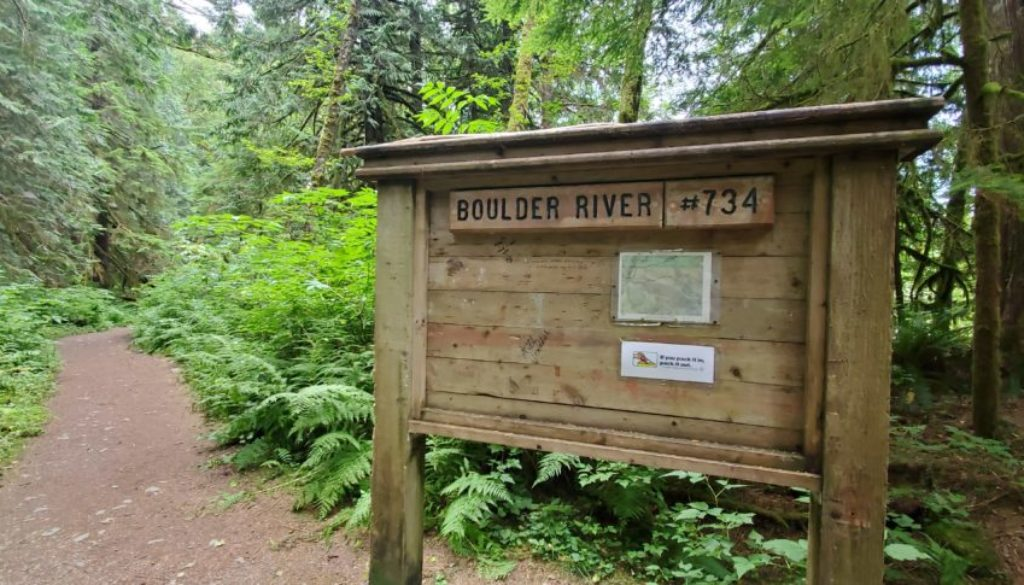 Boulder Creek Trail #734 just about 10 miles from Cascade National Park