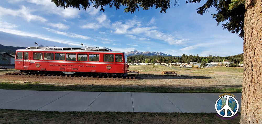 Cog railroad car from the Pikes Peak rail