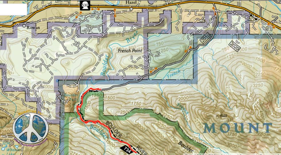 Boulder river trail similitude-1 Distance 6.24 mi Ascent 872 ft Total Time 4h 37m