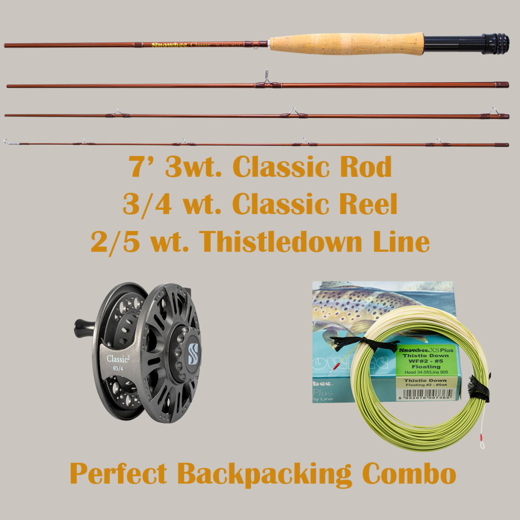 Backpacking Fly Rod Set-Up is light to pack in and deadly accurate casting to rising fish on a high mountain lake or stream. Enjoy some remote fishing