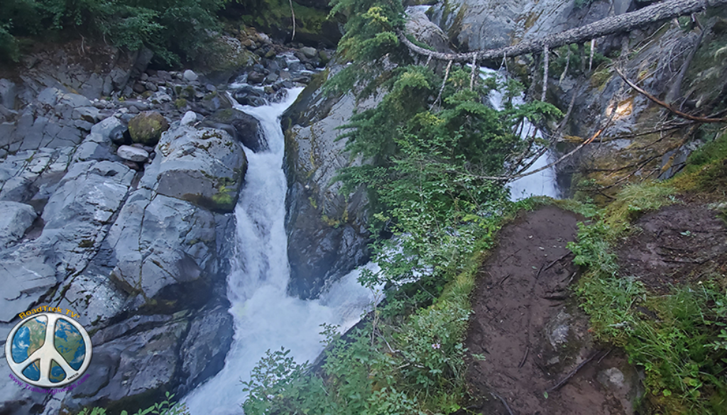 small water Summerland Wonderland Trail Similitude 1-2fall on the way up in